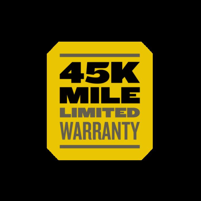 45k mileage warranty